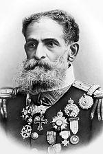Foto oficial de Deodoro da Fonseca, presidente do Brasil entre 1889 e 1891.