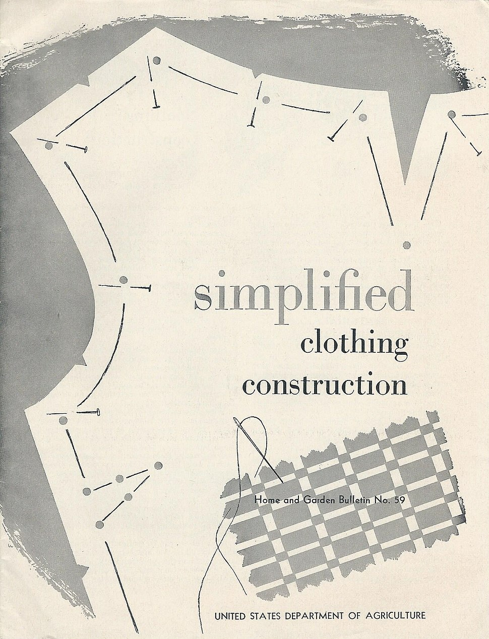 Dept Agriculture simplified clothing construction publication