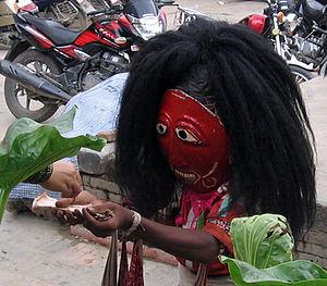 Lakhey - A Lakhe dancer from Dhading in Kathmandu.