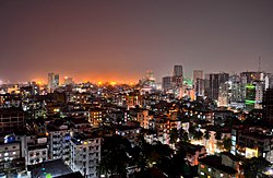 File photo of Dhaka at night, 2011.  Image: Md. Ishtiaque Mahmood Rohan.