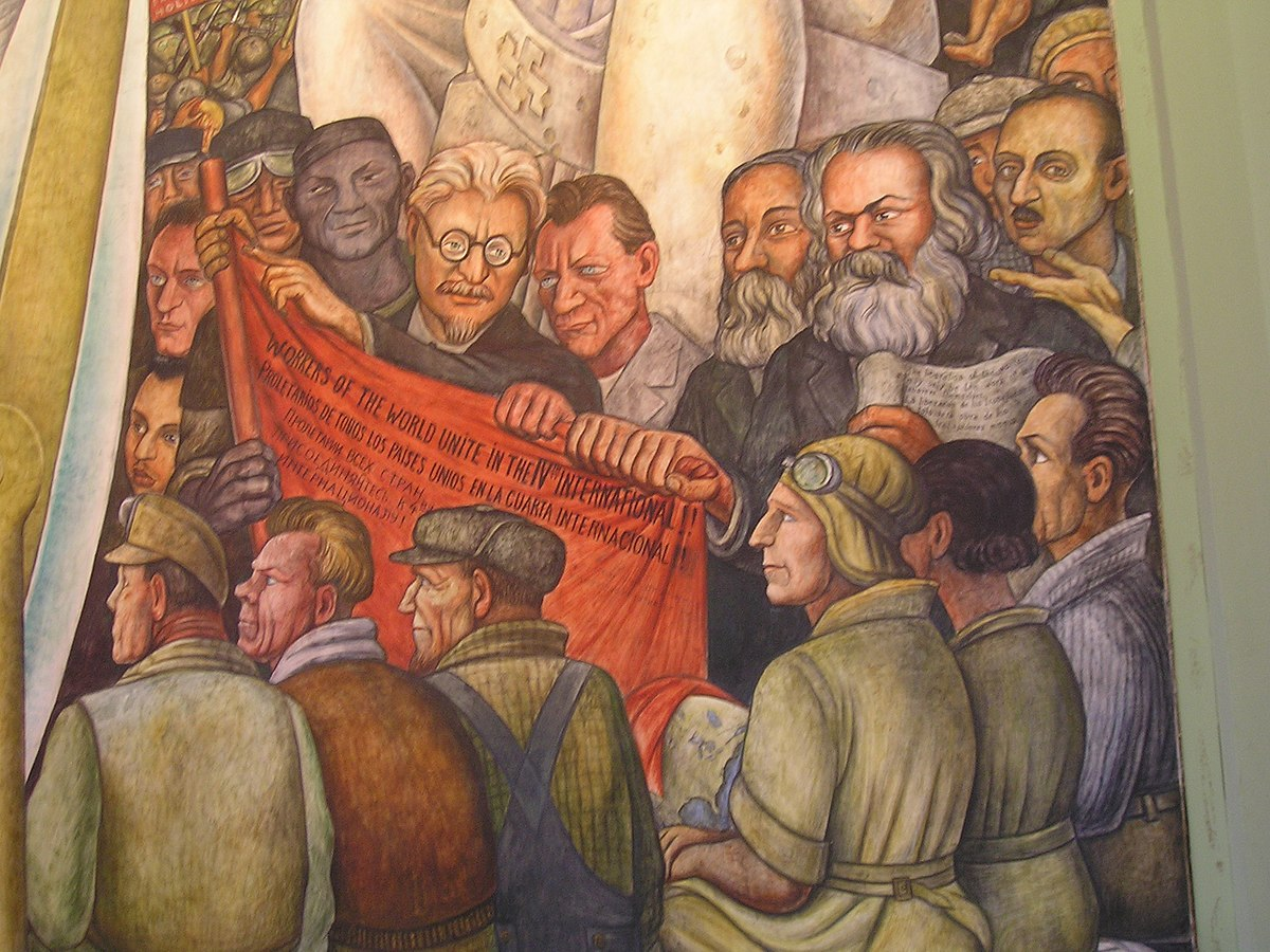 Anti stalinist left wikipedia for Diego rivera lenin mural