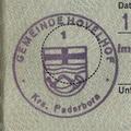 Dienstsiegel Gemeinde Hövelhof Krs. Paderborn 1 19800519.png