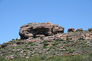 Rock shelter in South Africa