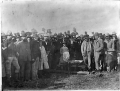 Digging the first sod for the Main Trunk Railway, at the confiscation line at the southern bank of the Puniu River ATLIB 334896.png