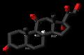 Dihydrocortisone 3D skeletal.png