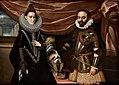 Dipinto Raffigurante il Duca Alessandro I Pico della Mirandola con la Moglie Laura D'Este.jpg