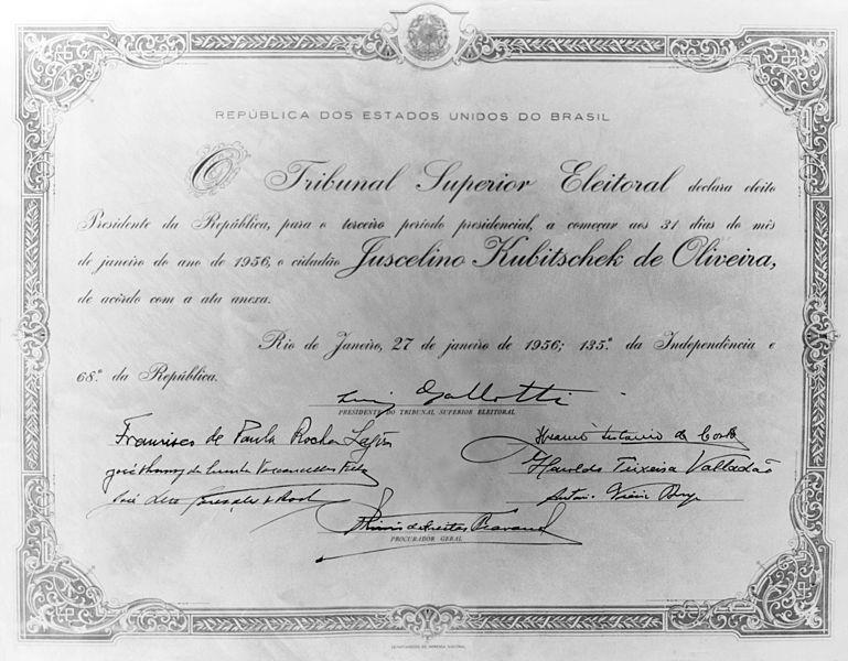 File:Diploma de Presidente da República de Juscelino Kubitschek.jpg