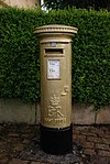 Disley gold postbox 11-09-2012.JPG