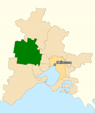 Division of Ballarat - Division of Ballarat in Victoria, as of the 2016 federal election.