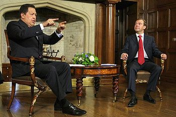 Dmitry Medvedev and Hugo Chavez 10 September 2009-4