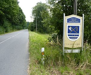 Dolní Domaslavice - Welcome sign