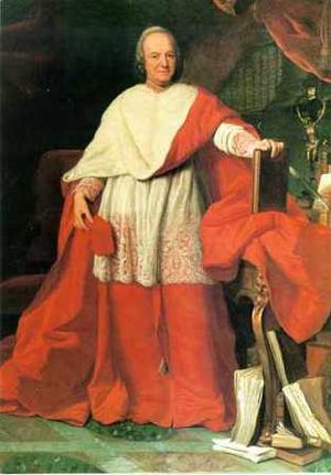 Domenico Silvio Passionei - A painting of Cardinal Passionei from the 18th century