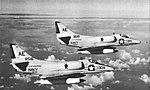 Douglas A-4C Skyhawks of VA-64 in flight, 1964.jpg