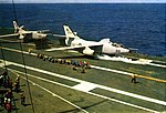Douglas A3D-2 Skywarrior of VAH-2 is launched from USS Coral Sea (CVA-43), circa in 1962.jpg