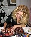 Drakaina signing books Hal-Con 2010.jpg