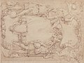 Drawing of Cartouche with Bearded Man Left, Young man crowned with Laurels Right, and Four Putti MET 50.605.15.jpg
