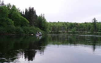 Androscoggin River - Drift boat fly fishing on the Androscoggin near Errol, NH