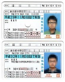 運転 免許 証 の 種類
