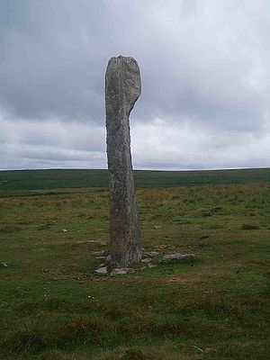 Drizzlecombe - Main standing stone