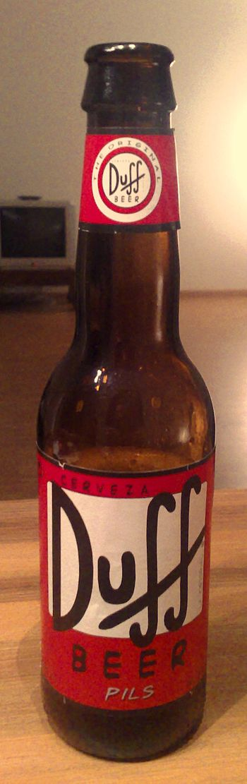 English: Mexican Duff beer, purchased in Switz...