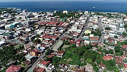 Aerial view of Dumaguete City