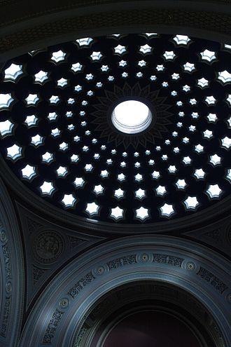 Dundas House - Pierced dome ceiling in Dundas House Edinburgh
