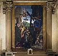Duomo (Verona) - Sant'Elena (Verona) - Madonna col Bambino in trono, i Santi Nicolò e Stefano ed un committente, Giovanni Caroto 1514.jpg