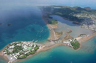 """Mayotte - The """"rock"""" of Dzaoudzi and """"Petite-Terre""""."""