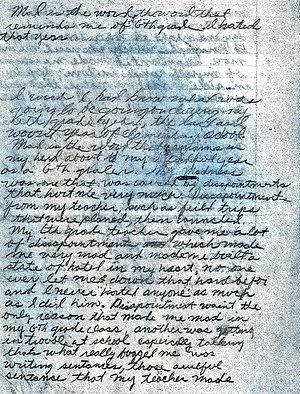 """Original Night Stalker - Front side of the """"Mad is the Word"""" page"""