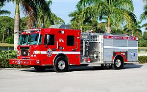 Fort Lauderdale Fire-Rescue Department - Engine 29 parked in front of Station 29