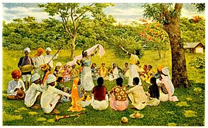 Indo-Caribbeans - Indo-Caribbeans in the 19th century celebrating the Indian culture in West Indies through dance and music