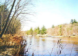 Eau Claire River (Chippewa River tributary) - Near Big Falls, in spring.