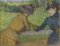 Edgar degas deux femmes appuyees a une barriere.jpg