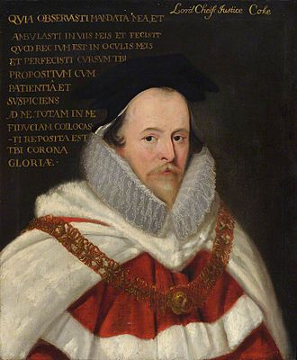 Chief Justice of the Common Pleas - Image: Edward Coke LCJ