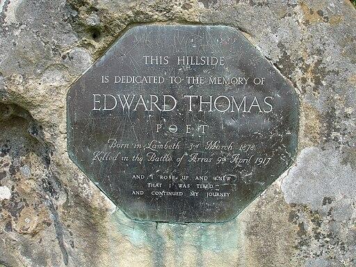 Edward Thomas memorial stone