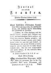 Eines fränkischen Ökonomen freymüthige Betrachtungen über die Feldwirthschaft, mit Hinsicht auf die Betreibung des Feldbaues in Franken, S. 641-656