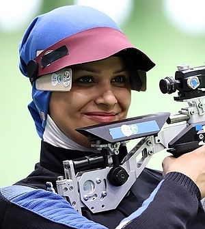 Iran at the 2016 Summer Olympics - Elaheh Ahmadi finished sixth in women's 10 m air rifle final.
