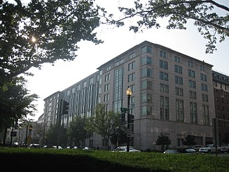 Elliott School of International Affairs - The Elliott School building was opened in 2003 in a ceremony featuring then United States Secretary of State and GW alumnus, Colin Powell.