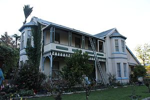 2016 Kaikoura earthquake - The Elms homestead, pictured here in 2012, collapsed during the earthquake, killing one person.