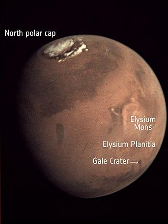 Elysium Planitia - Location of Elysium Plantia on Mars
