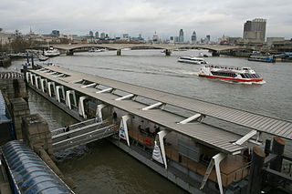 Pier on the River Thames near Embankment