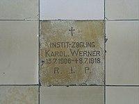 Emmering Kirche St Johann Baptist & Evangelist 051 Epitaph zu Grab unter Neubau.jpg