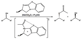 Chalcogen bond - Stereoselective acyl transfer via an isothiourea catalyst.