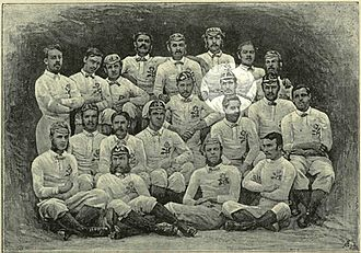 Reg Birkett - 1871 England rugby squad with Rovers player R. H. Birkett highlighted