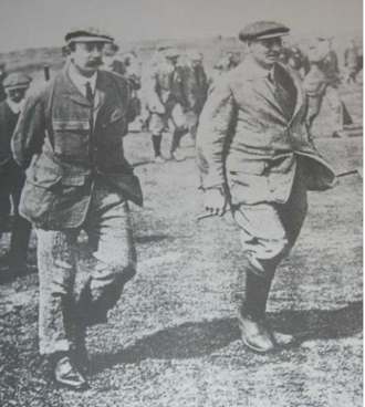 Tom Williamson (golfer) - Image: English golf professionals Tom Williamson (l) and Harry Vardon (r)