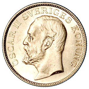 1 kr, a Swedish coin. *Scan by my brother, fro...
