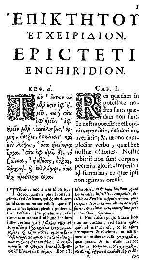 Chapter 1, page 1, of the Enchiridion of Epict...