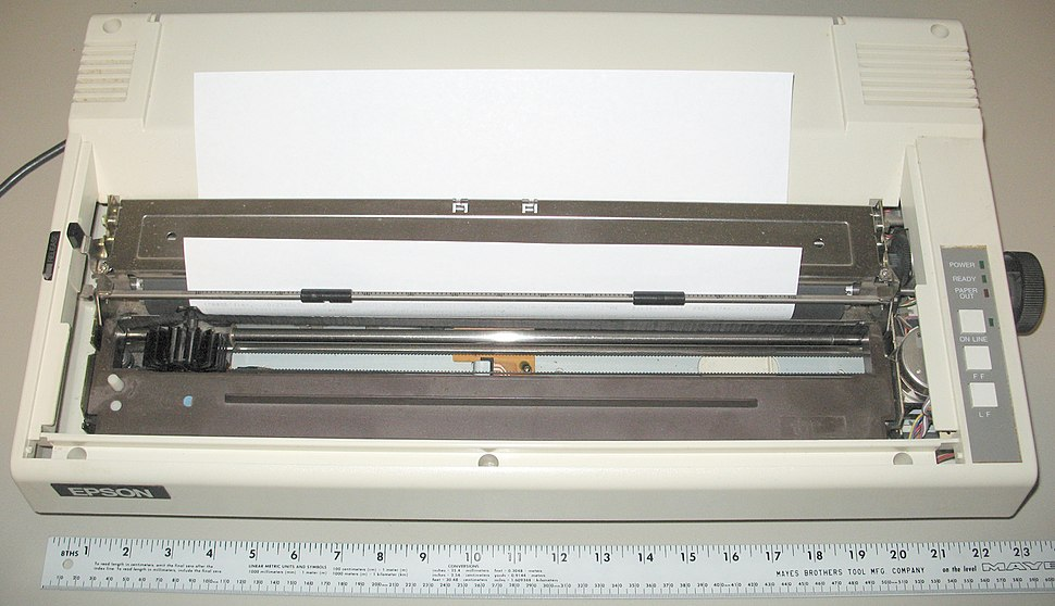 Epson Wide Carriage 9-pin printer - with legal paper 8.5x14
