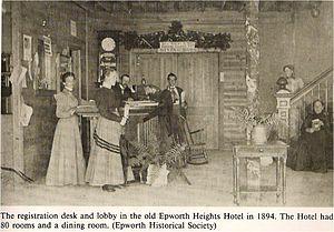 Epworth Heights - Image: Epworth Heights Hotel, 1894