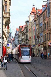 Erfurt Straßenbahn Schlösserstr